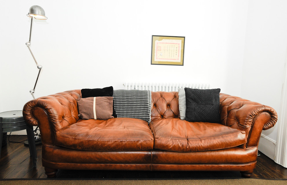 cognac leather sofa Living Room Contemporary with brown couch brown leather